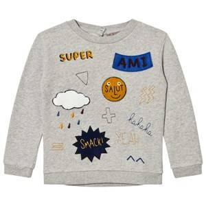 Emile et Ida Boys Jumpers and knitwear Grey Sweater Ami Gris Chine