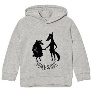 Emile et Ida Boys Jumpers and knitwear Grey Hoodie Peace&Love; Gris Chine