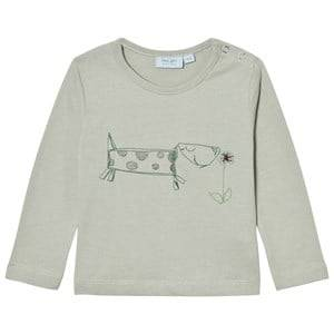 Noa Noa Miniature Boys Tops Grey Embroidered Dog Tee Puritan Grey