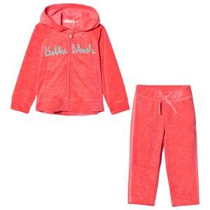 Billieblush Girls Clothing sets Pink Pink Glitter Logo Tracksuit