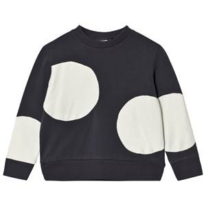 Wynken Unisex Jumpers and knitwear Grey Cream and Charcoal Spot Sweatshirt