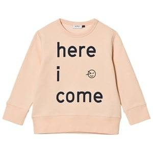 Wynken Unisex Jumpers and knitwear Pink Here I Come Sweatshirt Blush