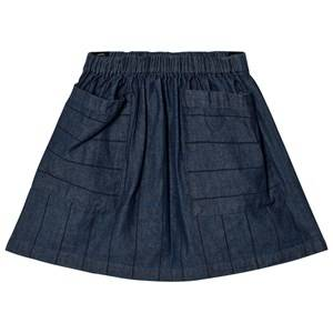 Wynken Girls Skirts Blue Denim Stripe Skirt
