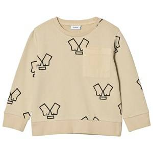 Wynken Boys Jumpers and knitwear Beige Stone Monster Sweatshirt