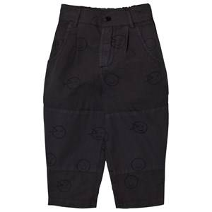 Wynken Boys Bottoms Black Charcoal Wink Patch Pants