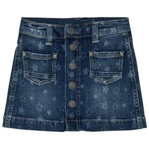 Pepe Jeans Girls Skirts Blue Star Print Button Skirt Medium