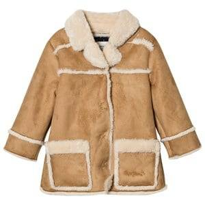 Pepe Jeans Girls Coats and jackets Brown Camel Shearling Coat