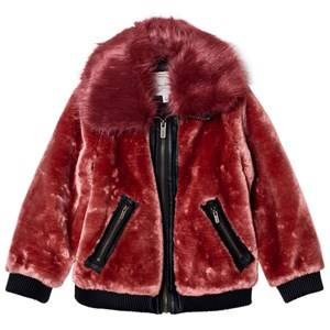 Pepe Jeans Girls Coats and jackets Red Red Faux Fur Aviator Jacket