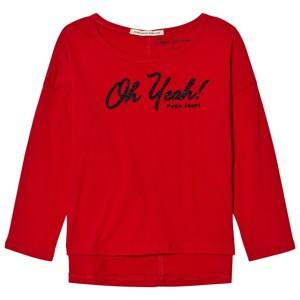 Pepe Jeans Girls Tops Red Red Oh Yeah Beaded Tee