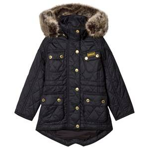 Barbour Girls Coats and jackets Black Black Enduro Long Line International Quilt Parka