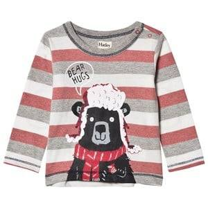 Hatley Boys Tops Red Red and Grey Bear Hugs Tee