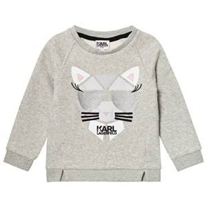 Karl Lagerfeld Kids Girls Jumpers and knitwear Grey Grey Marl Choupette Sweatshirt