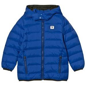 Giorgio Armani Junior Boys Coats and jackets Blue Blue Down Hooded Puffer Coat with Logo