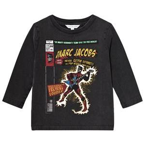 Little Marc Jacobs Boys Tops Black Black Washed Comic Tee