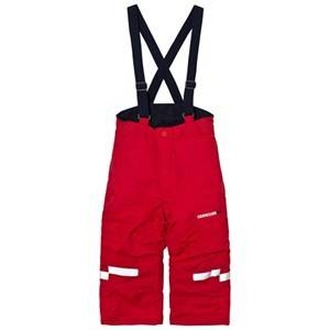 Didriksons Unisex Bottoms Idre Kids Pants Red