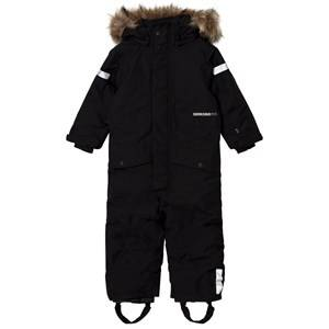 Didriksons Unisex Coveralls Black Björnen Kid´s Coverall Black