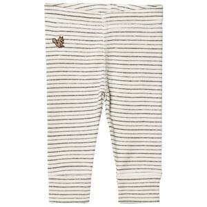 Emile et Ida Unisex Bottoms Grey Striped Leggings