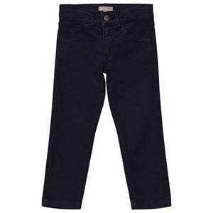 Emile et Ida Girls Bottoms Blue Trousers with Cat Pockets Marine