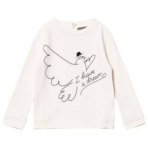 Emile et Ida Boys Jumpers and knitwear White I Have A Dream Sweater Ecru