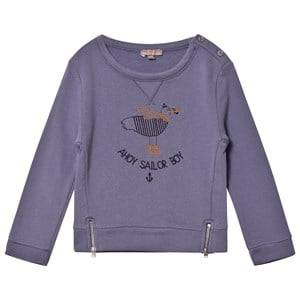 Emile et Ida Boys Jumpers and knitwear Blue Sailor Boy Sweater Indigo