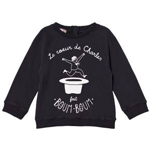 Emile et Ida Girls Jumpers and knitwear Black Charles Sweater Orage