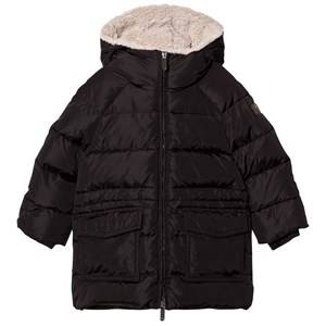 Il Gufo Boys Coats and jackets Black Black Padded Parka with Teddy Hood Lining