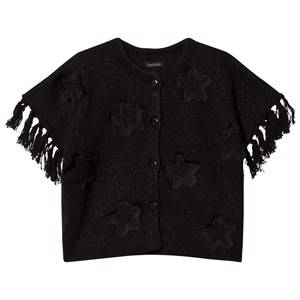 IKKS Girls Jumpers and knitwear Black Black Star Applique Knit Glitter Poncho