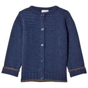Lillelam Unisex Jumpers and knitwear Blue Basic Cardigan Blue