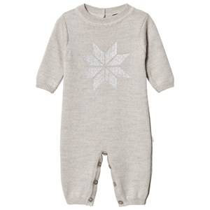 Lillelam Unisex All in ones Grey Snow Crystal One-Piece Grey