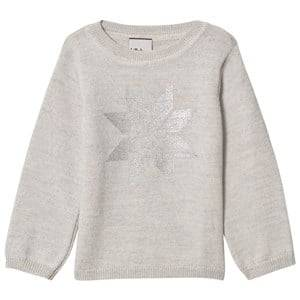 Lillelam Unisex Jumpers and knitwear Grey Snow Crystal Sweater Grey