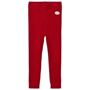 Lillelam Unisex Bottoms Red Winter Rib Leggings Red
