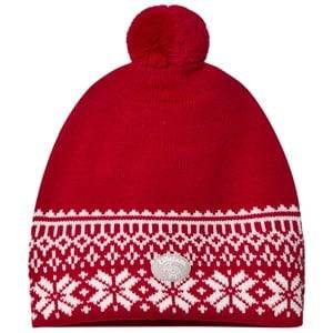 Lillelam Unisex Headwear Red Winter Dusk Hat Red