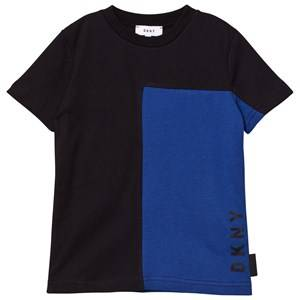 DKNY Boys Tops Black Black/Blue Branded Tee