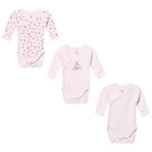 Petit Bateau Unisex All in ones White 3-Pack Wrap Body