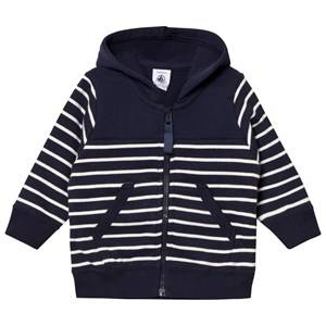 Petit Bateau Unisex Jumpers and knitwear Blue Sweat Jacket Marine/Creme