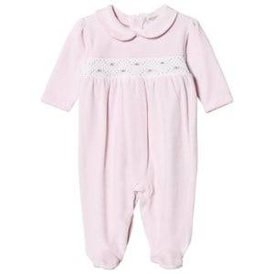 Kissy Kissy Girls All in ones Pink Pink Velour Rose Smocked One-Piece