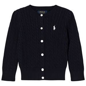Ralph Lauren Girls Jumpers and knitwear Navy Navy Mini Cable Long Sleeve Cardigan