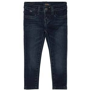 Ralph Lauren Girls Bottoms Navy Blue Mid Wash Aubrey Stretch Jeans