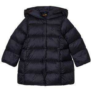 Ralph Lauren Girls Coats and jackets Navy Long Quilted Hooded Down Coat Navy