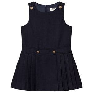 Cyrillus Girls Dresses Navy Navy Pleated Sleeveless Dress