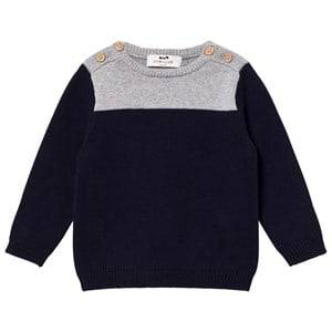 Cyrillus Boys Jumpers and knitwear White Navy and Grey Marl Sweater