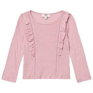 Cyrillus Girls Tops Pink Pale Pink Long Sleeve Tee
