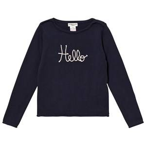 Cyrillus Girls Jumpers and knitwear Navy Type Embroidered Sweater Navy