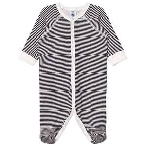 Petit Bateau Unisex All in ones Blue Bodysuit Marine Creme