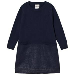 Lillelam Unisex Dresses Blue Merino Wool Sparkling Dress Blue
