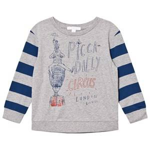 Burberry Boys Tops Blue Piccadily Circus Print Oliver Tee Grey/Bright Navy Blue