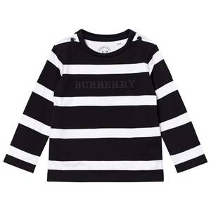 Burberry Boys Tops Black Black/White Mathew Tee