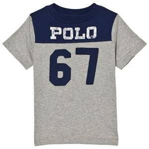 Ralph Lauren Boys Tops Navy Grey/Navy Polo Tee