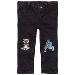Tao&friends; Unisex Bottoms Grey Denim Jeans Grey/Black