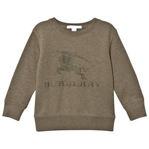 Burberry Boys Jumpers and knitwear Green Khaki Green Knight Embroidered Sweatshirt